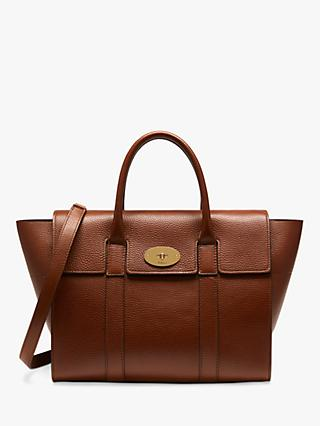 4eb2c6d7d377 Mulberry Bayswater with Strap Grain Veg Tanned Leather Bag
