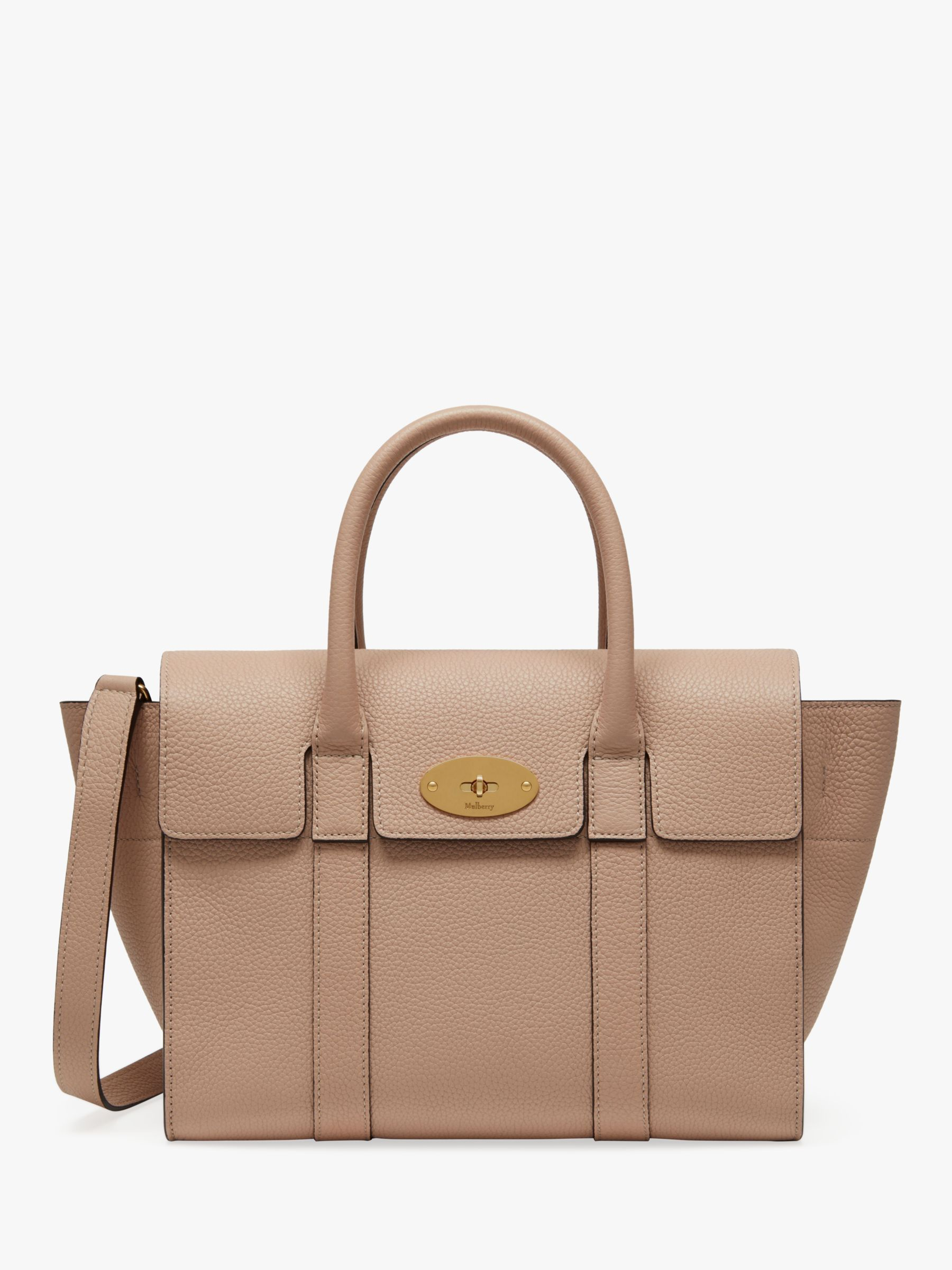 Mulberry Small Bayswater Small Classic Grain Leather Satchel Bag at John  Lewis   Partners a9d2f1e7621e5