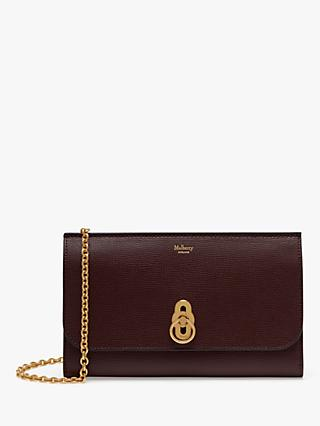 Mulberry Amberley Cross Grain Leather Clutch Bag