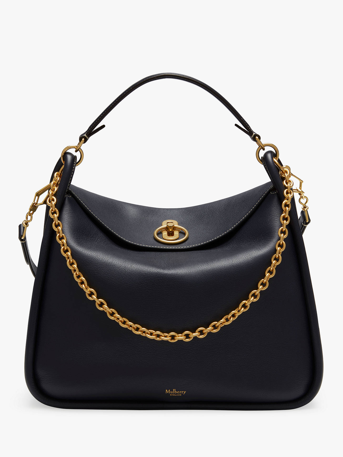 uk store a few days away quite nice Mulberry Leighton Silky Calf's Leather Shoulder Bag at John Lewis ...