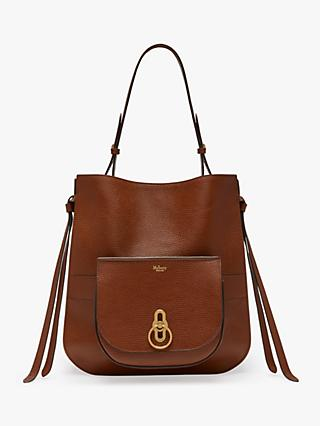 Mulberry Amberley Grain Veg Tanned Leather Hobo Bag, Oak