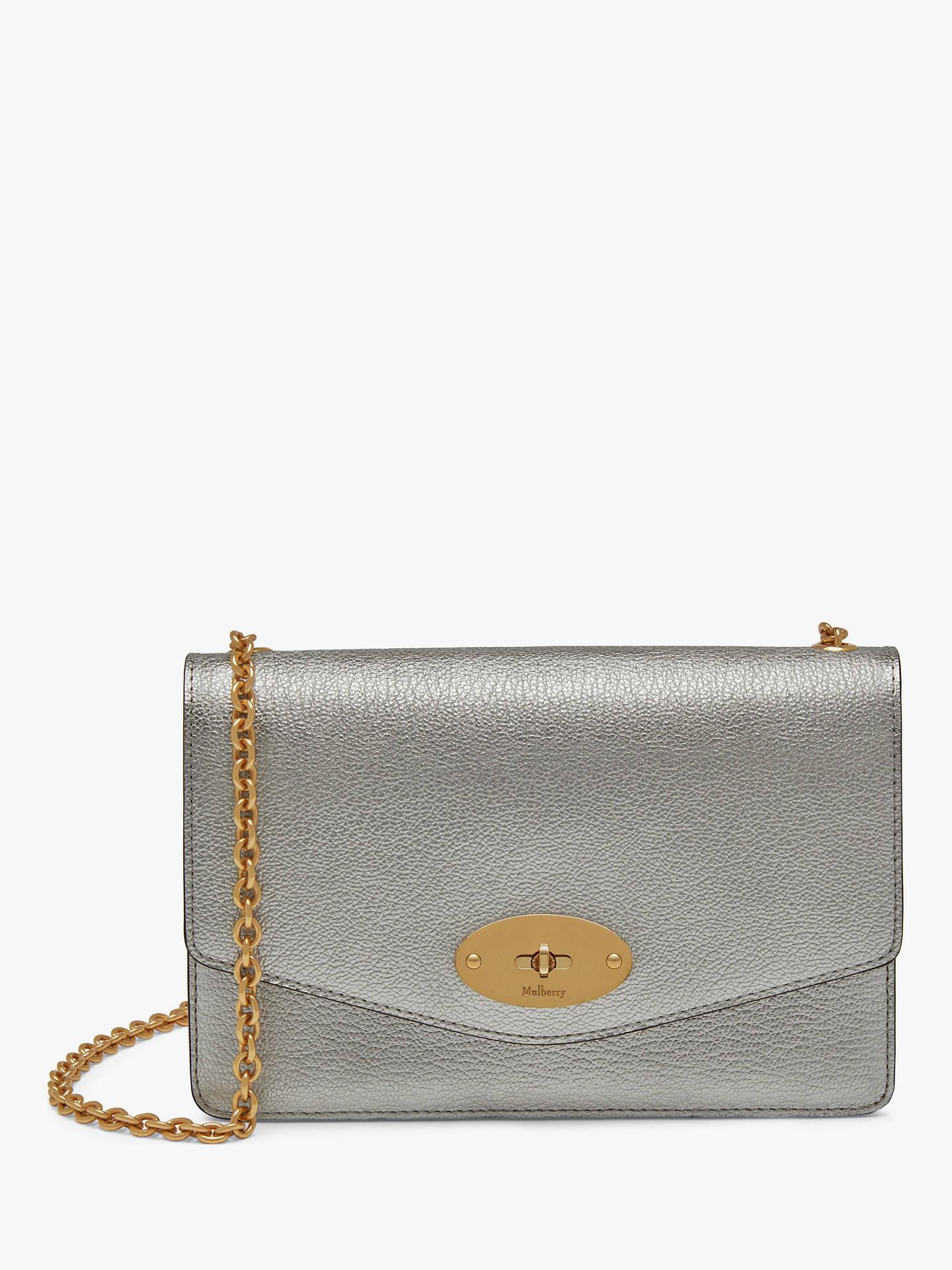 66d5b31e3a7c Mulberry Small Darley Metallic Printed Calf Leather Cross Body Bag ...