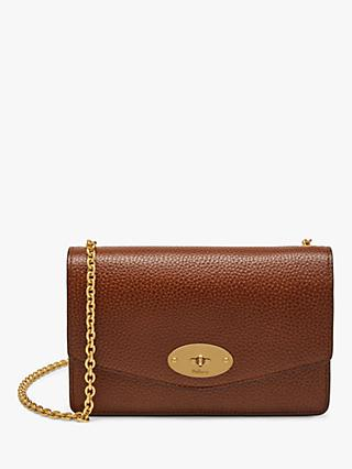 c76ed554c058 Mulberry Small Darley Grain Veg Tanned Leather Cross Body Bag