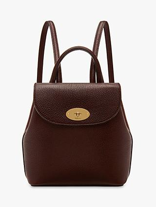 Mulberry Mini Bayswater Grain Veg Tanned Leather Backpack