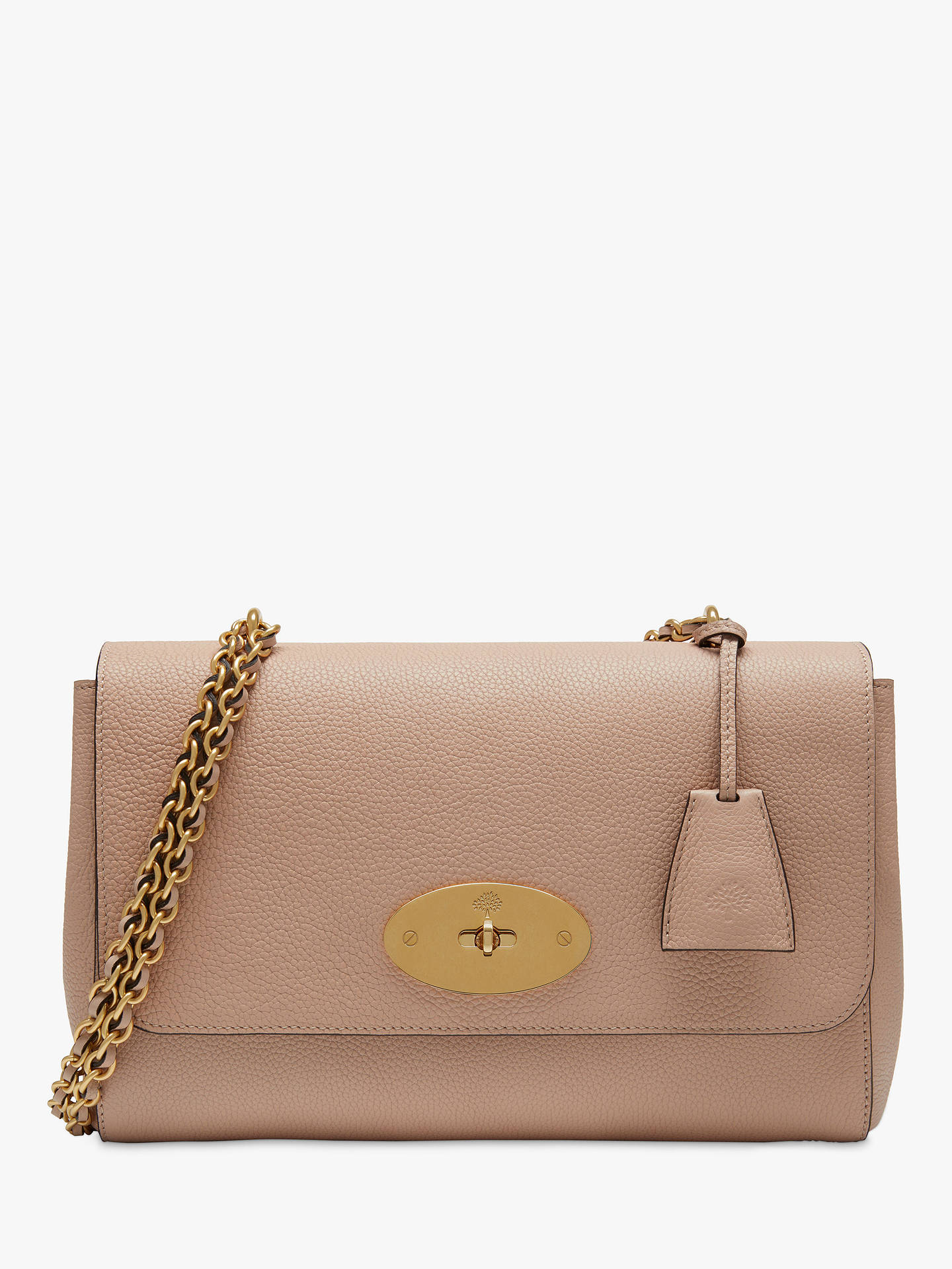 055f00bada9 BuyMulberry Medium Lily Classic Grain Leather Shoulder Bag, Rosewater  Online at johnlewis.com ...