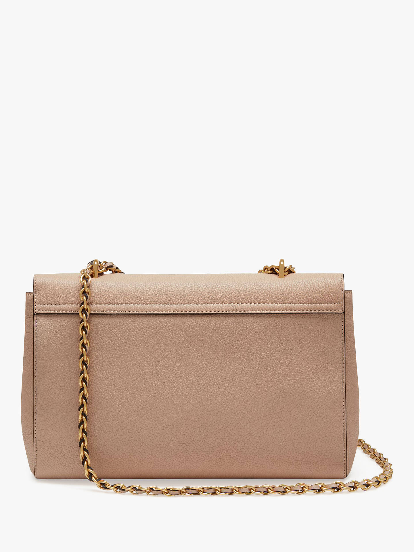c62eb8894c ... Buy Mulberry Medium Lily Classic Grain Leather Shoulder Bag, Rosewater  Online at johnlewis.com ...