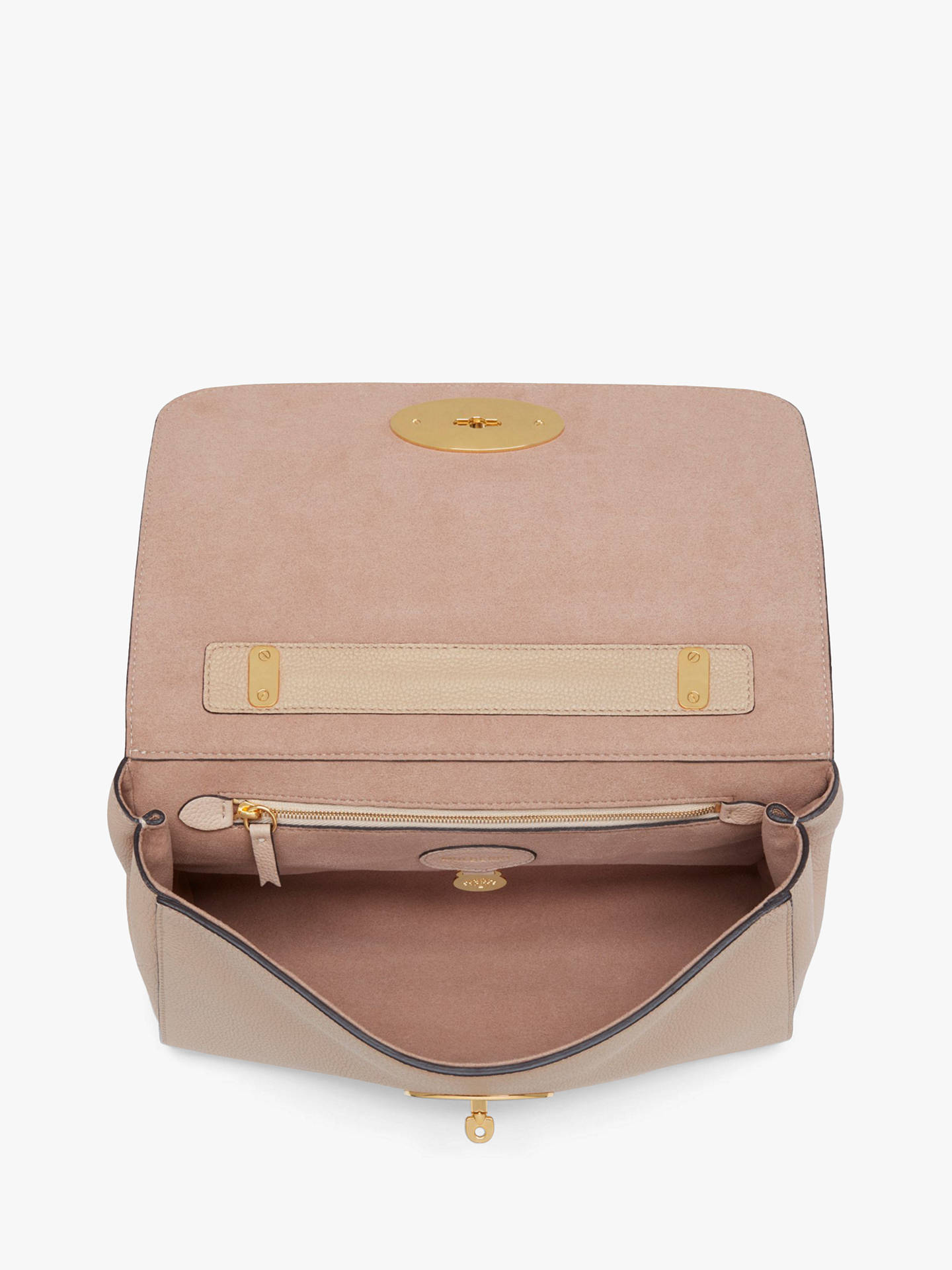 4b9200b2a82 ... BuyMulberry Medium Lily Classic Grain Leather Shoulder Bag, Rosewater  Online at johnlewis.com ...