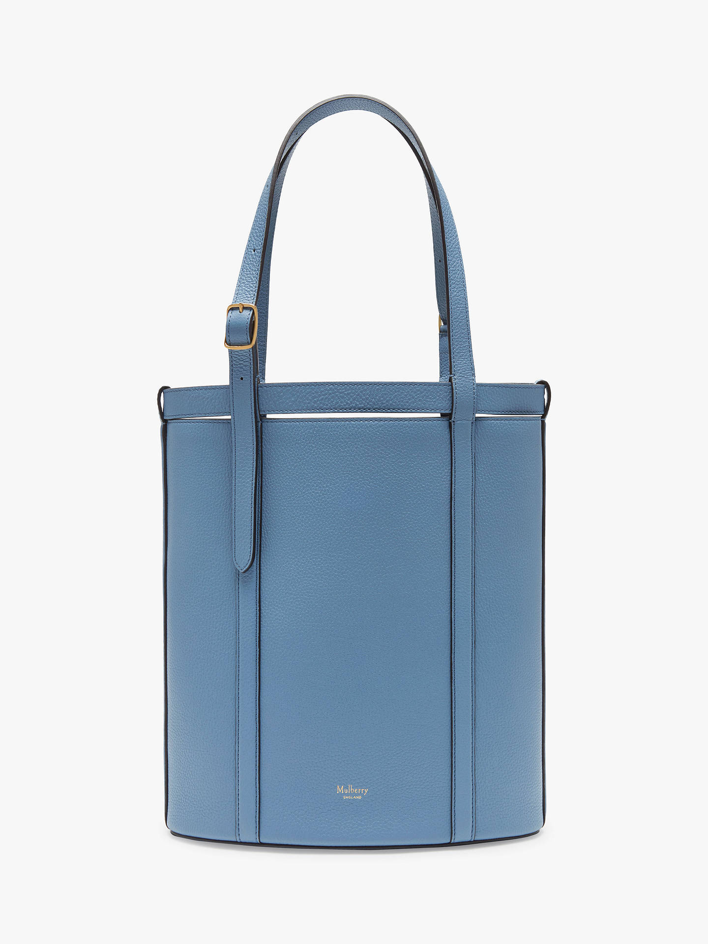 Mulberry Wilton Classic Grain Leather Small Bucket Tote Bag Lavender Blue Online At Johnlewis