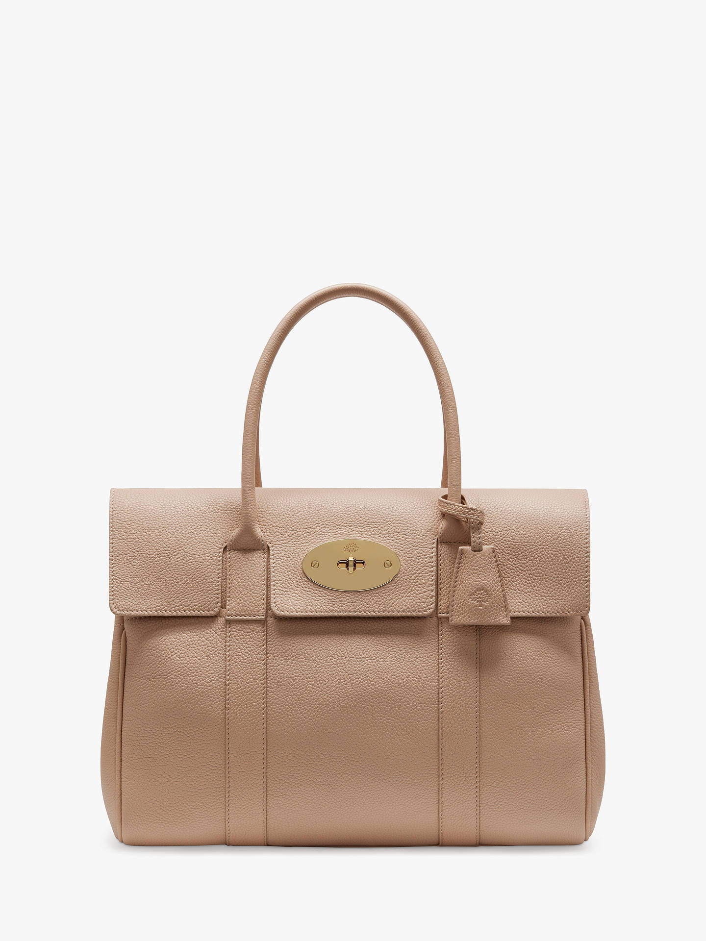 aaa8c30fa6e BuyMulberry Bayswater Heritage Small Classic Grain Leather Handbag,  Rosewater Online at johnlewis.com ...