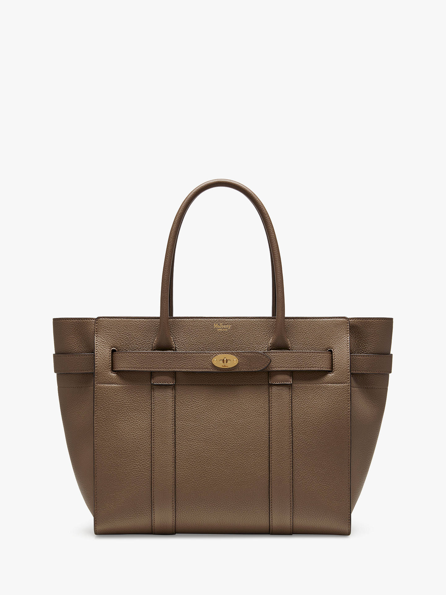 Mulberry Bayswater Zipped Small Classic Grain Leather Tote Bag at ... a2b874253035d