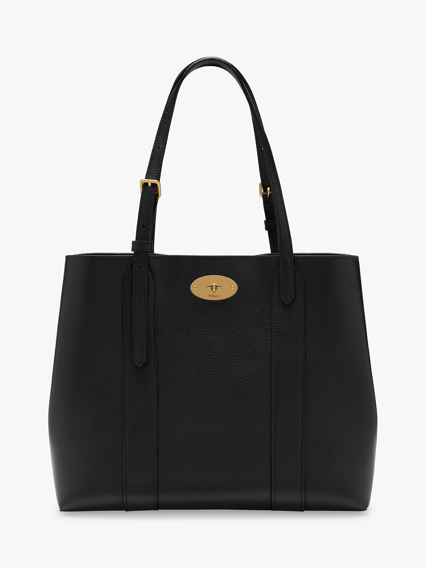 8ccc8f517 Buy Mulberry Small Bayswater Classic Grain Leather Tote Bag, Black Online  at johnlewis.com ...