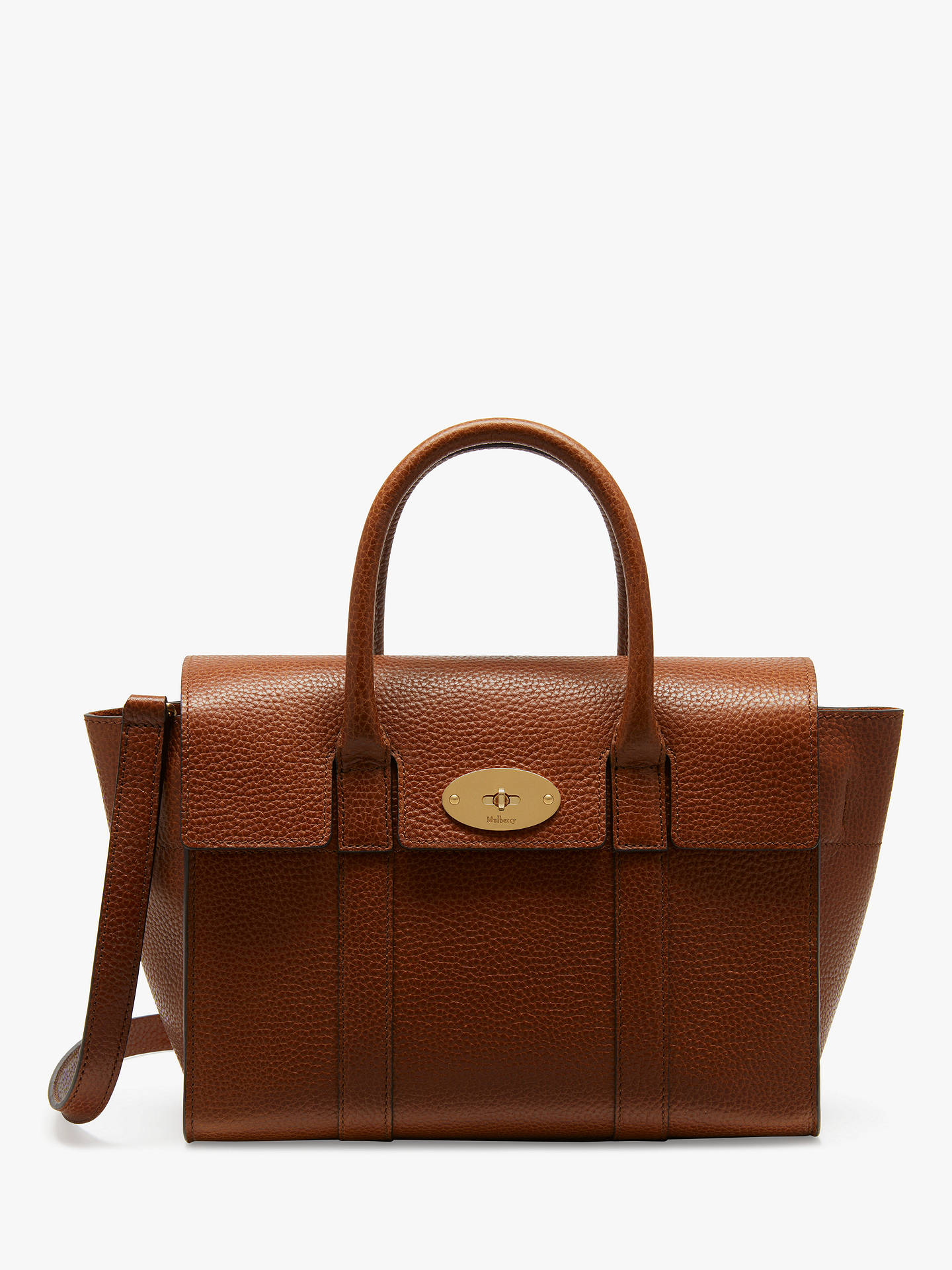 BuyMulberry Small Bayswater Grain Veg Tanned Leather Satchel Bag, Oak  Online at johnlewis.com ... 07c2f10d16