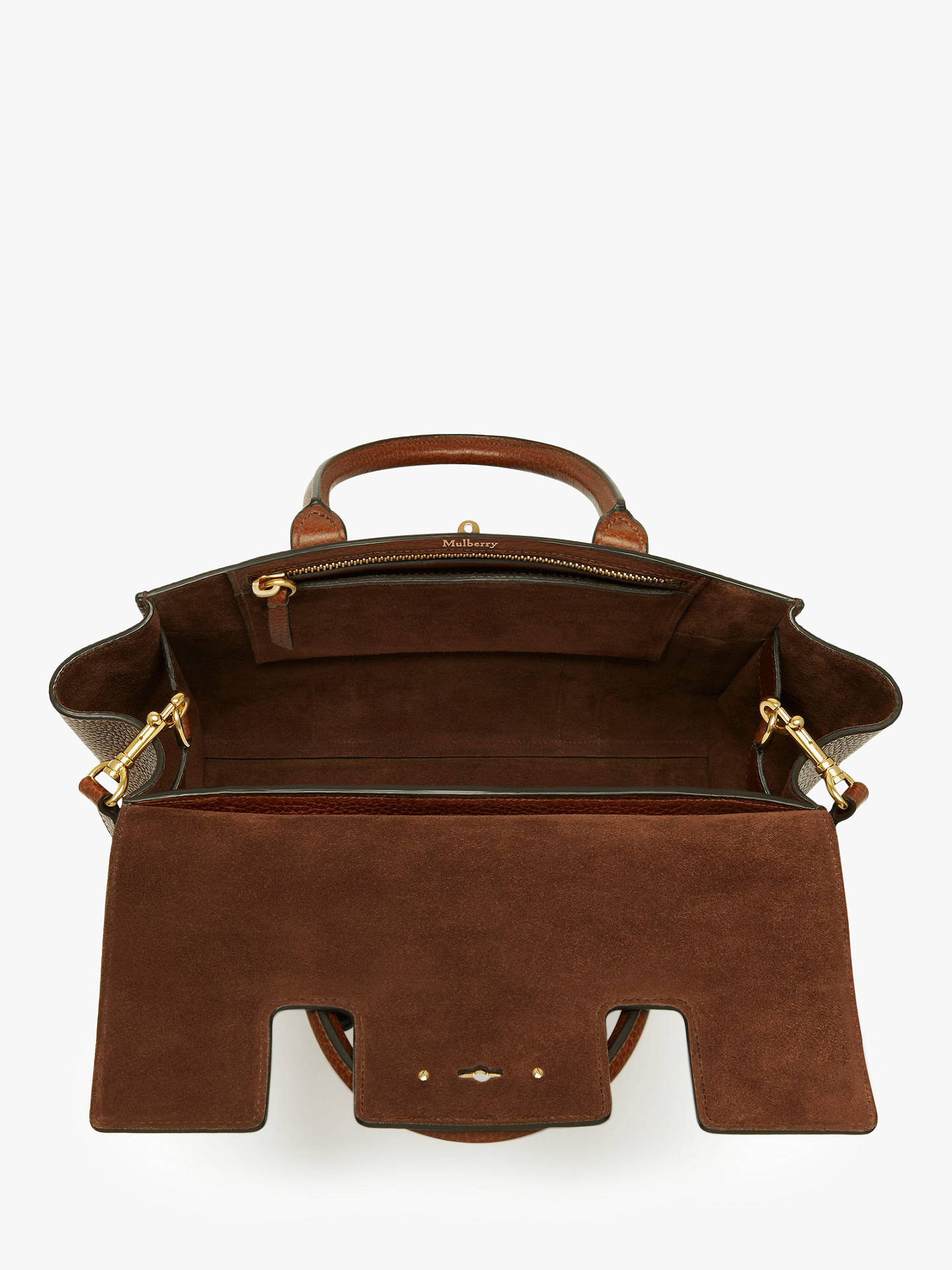 Mulberry Small Bayswater Grain Veg Tanned Leather Satchel Bag at ... 33eaf38327ed8