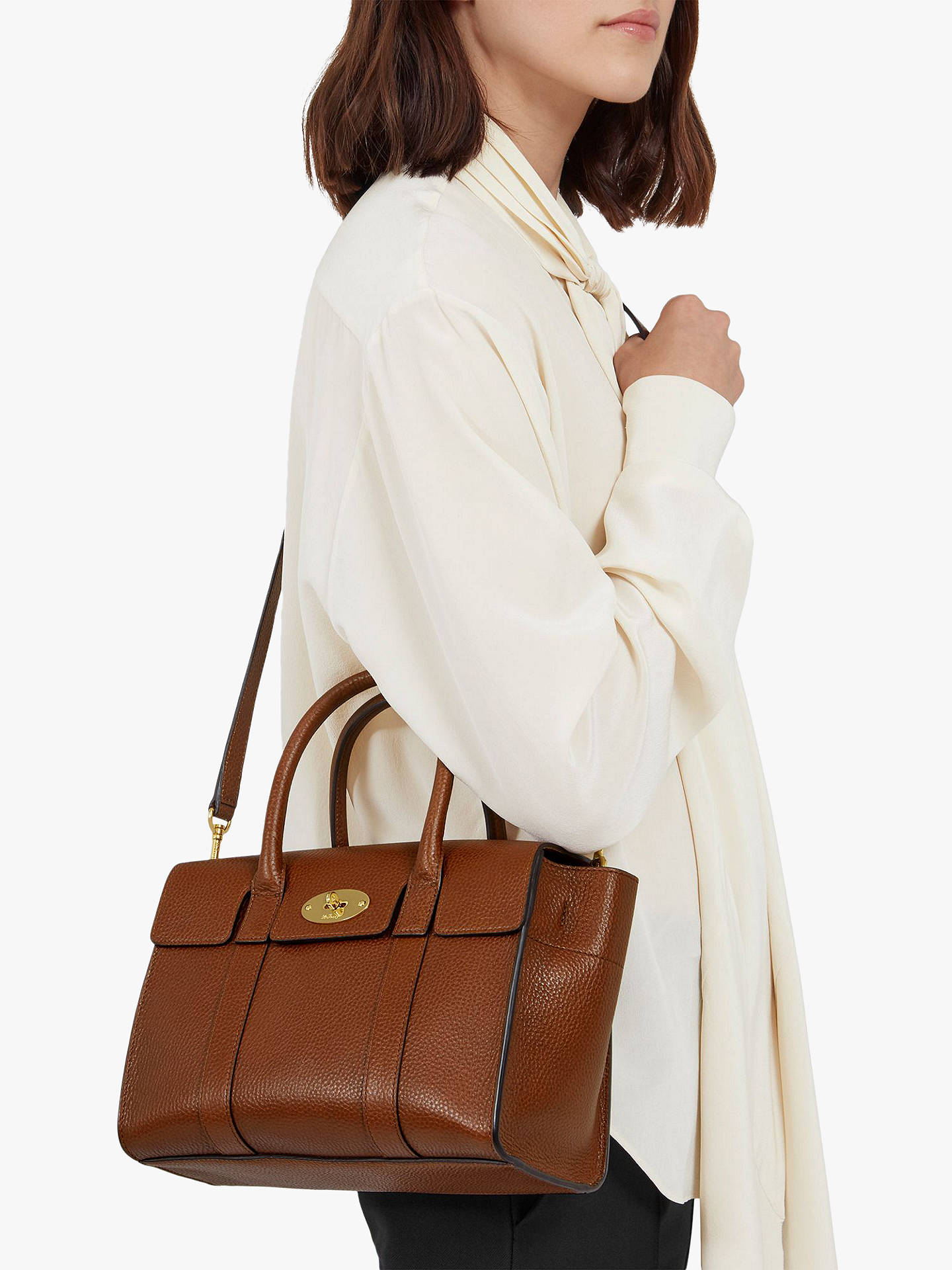 Mulberry Small Bayswater Grain Veg Tanned Leather Satchel Bag at ... fdce1a6b07fdb