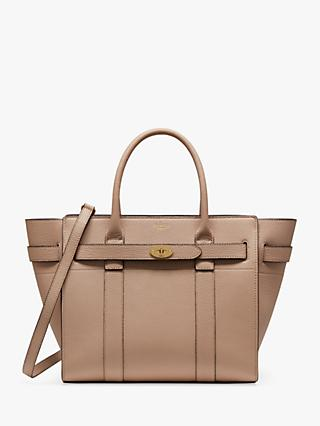 Mulberry Small Bayswater Zipped Classic Grain Leather Tote Bag