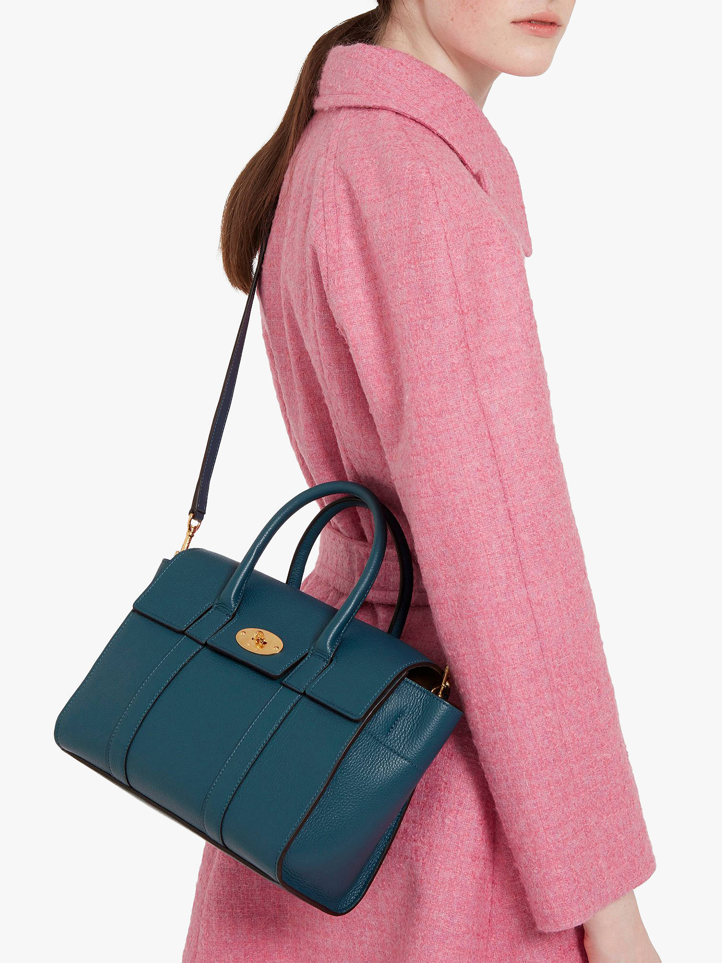 Mulberry Small Bayswater Small Classic Grain Leather Satchel Bag at ... 8f1a9970a5f36