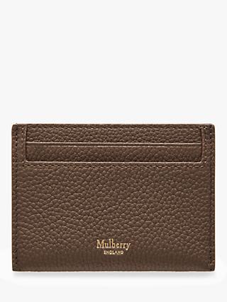 77e326e9e439 Mulberry Continental Small Classic Grain Leather Credit Card Slip