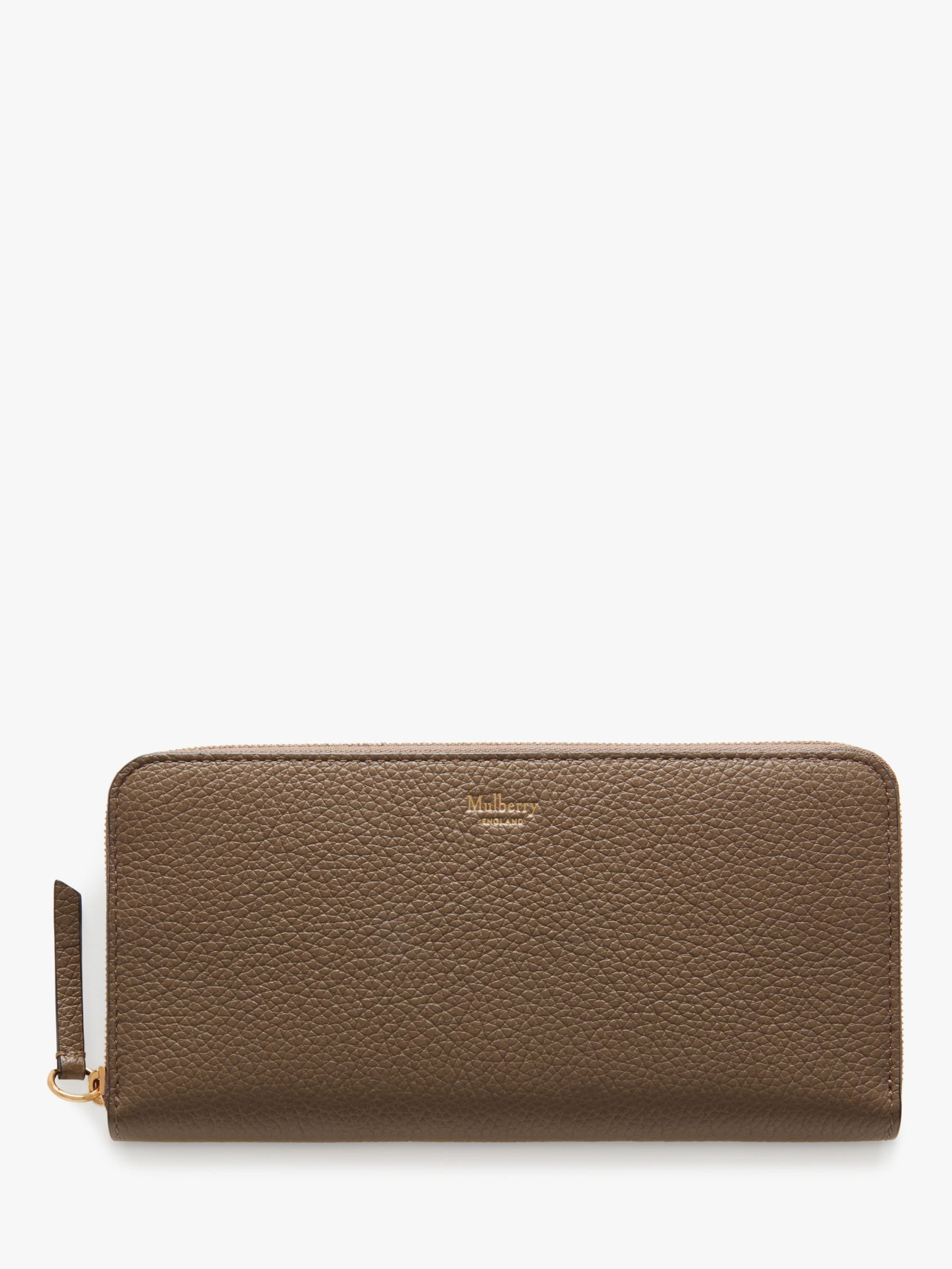 58b701615b2 Mulberry Small Classic Grain Leather 8 Card Zip Around Wallet at John Lewis  & Partners