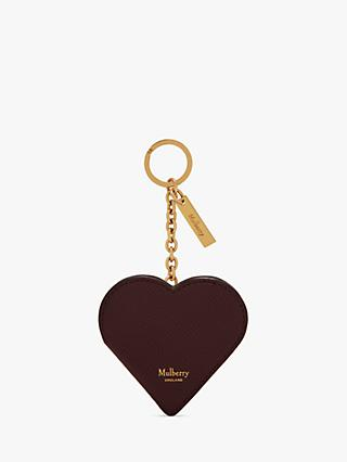 Mulberry Cross Grain Leather Heart Portrait Keyring 66e7b958a4