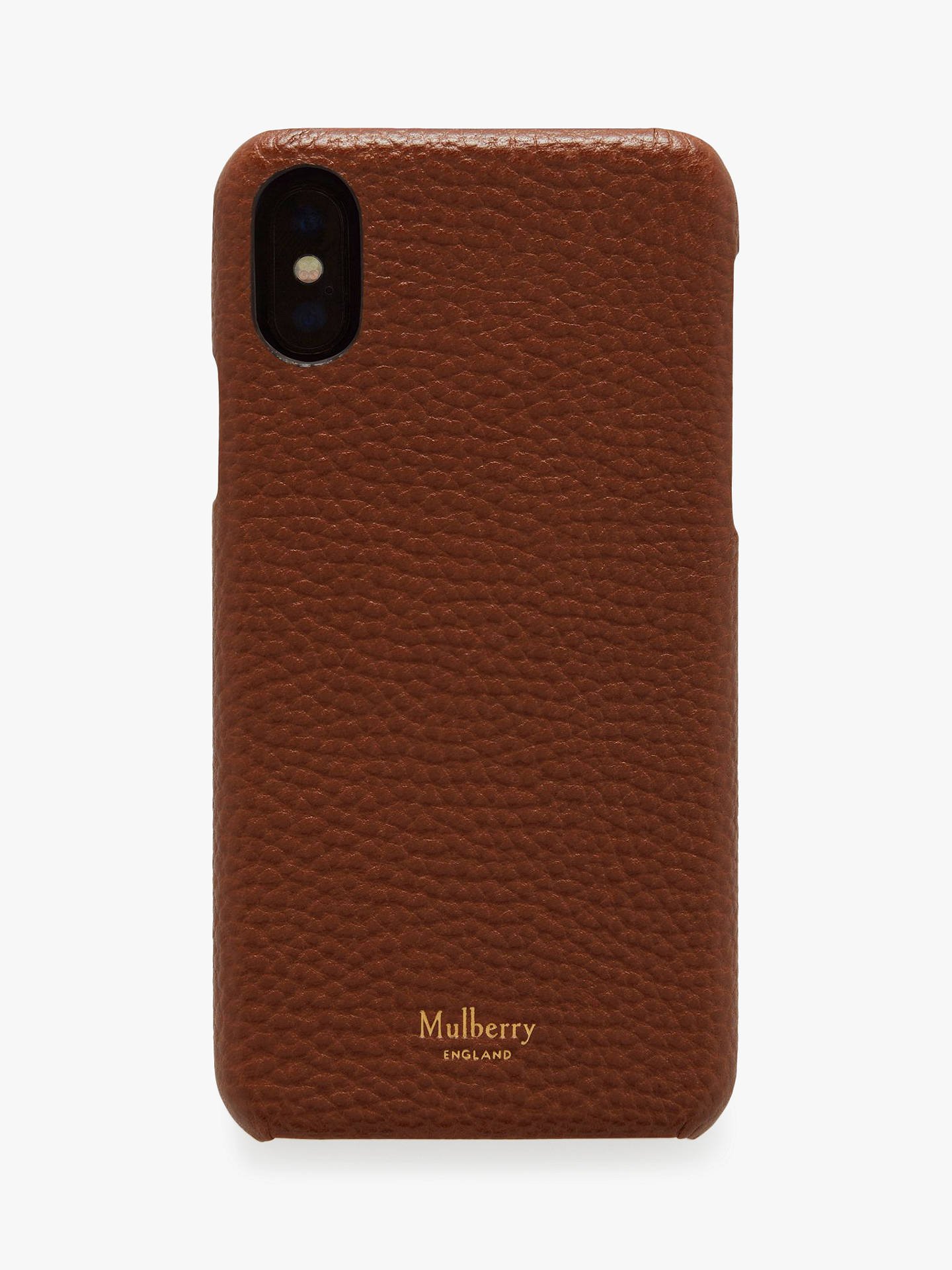 sports shoes 09a0c a9461 Mulberry Grain Veg Tanned Leather iPhone X/XS Cover, Oak