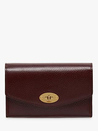 767c3a022435 Mulberry Darley Grain Veg Tanned Leather Medium Wallet