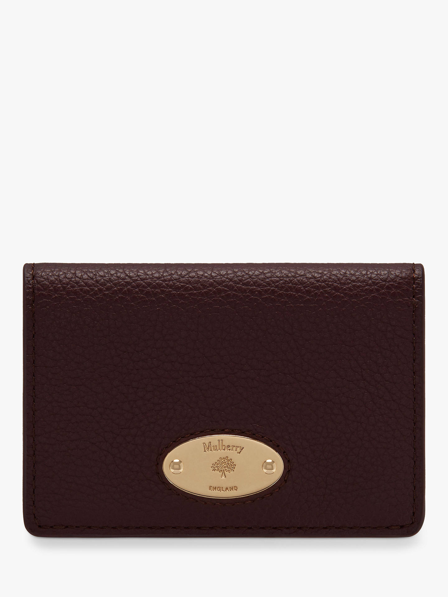 d00e710674 Mulberry Plaque Small Classic Grain Leather Card Holder at John ...