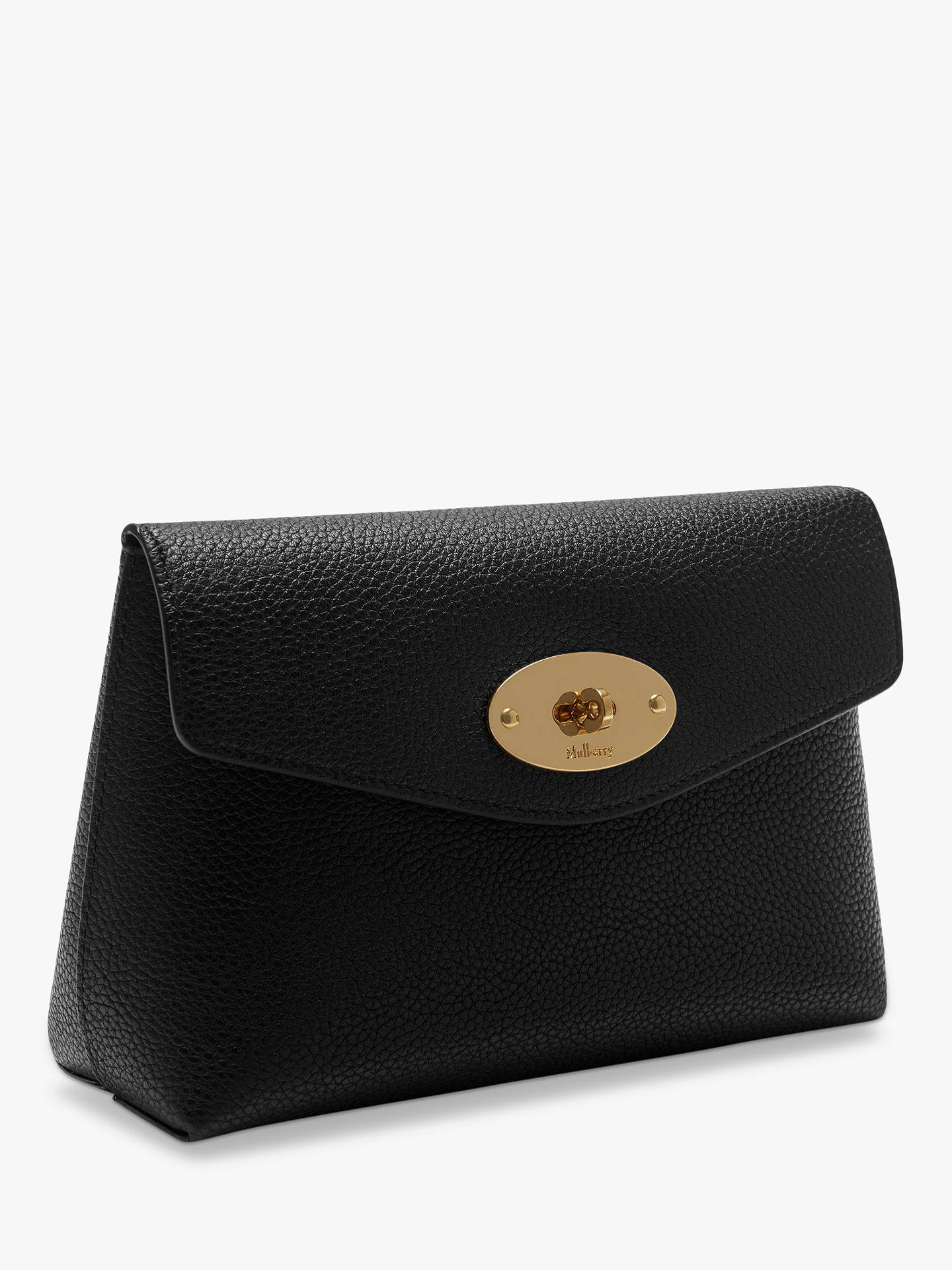 4cb60ee6a044 Mulberry Darley Classic Grain Leather Small Cosmetic Pouch, Black