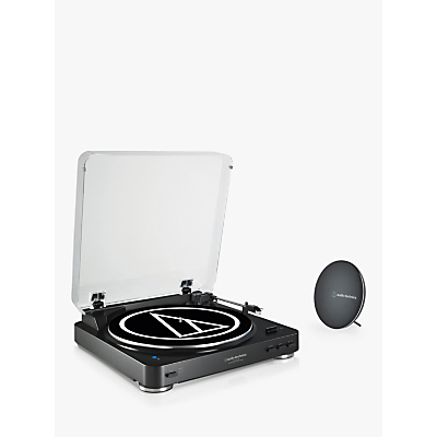 Image of Audio-Technica AT-LP60SPBT Bluetooth Turntable and Speaker System, Black
