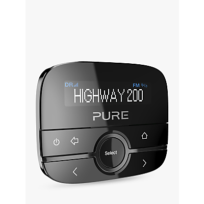Image of Pure Highway 200 In-Car DAB+ Radio and Audio Adapter, Black