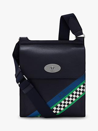 b8d4f130b Mulberry New Antony Racing Stripes Small Satchel Bag, Midnight