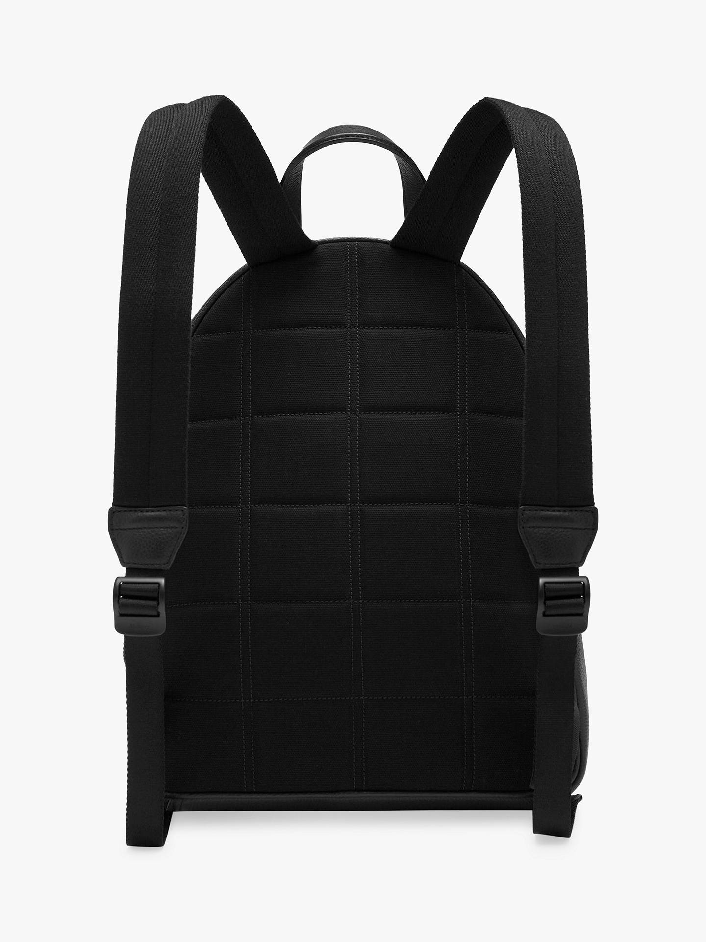 BuyMulberry Small Classic Grain Leather Zipped Backpack, Black Online at johnlewis.com