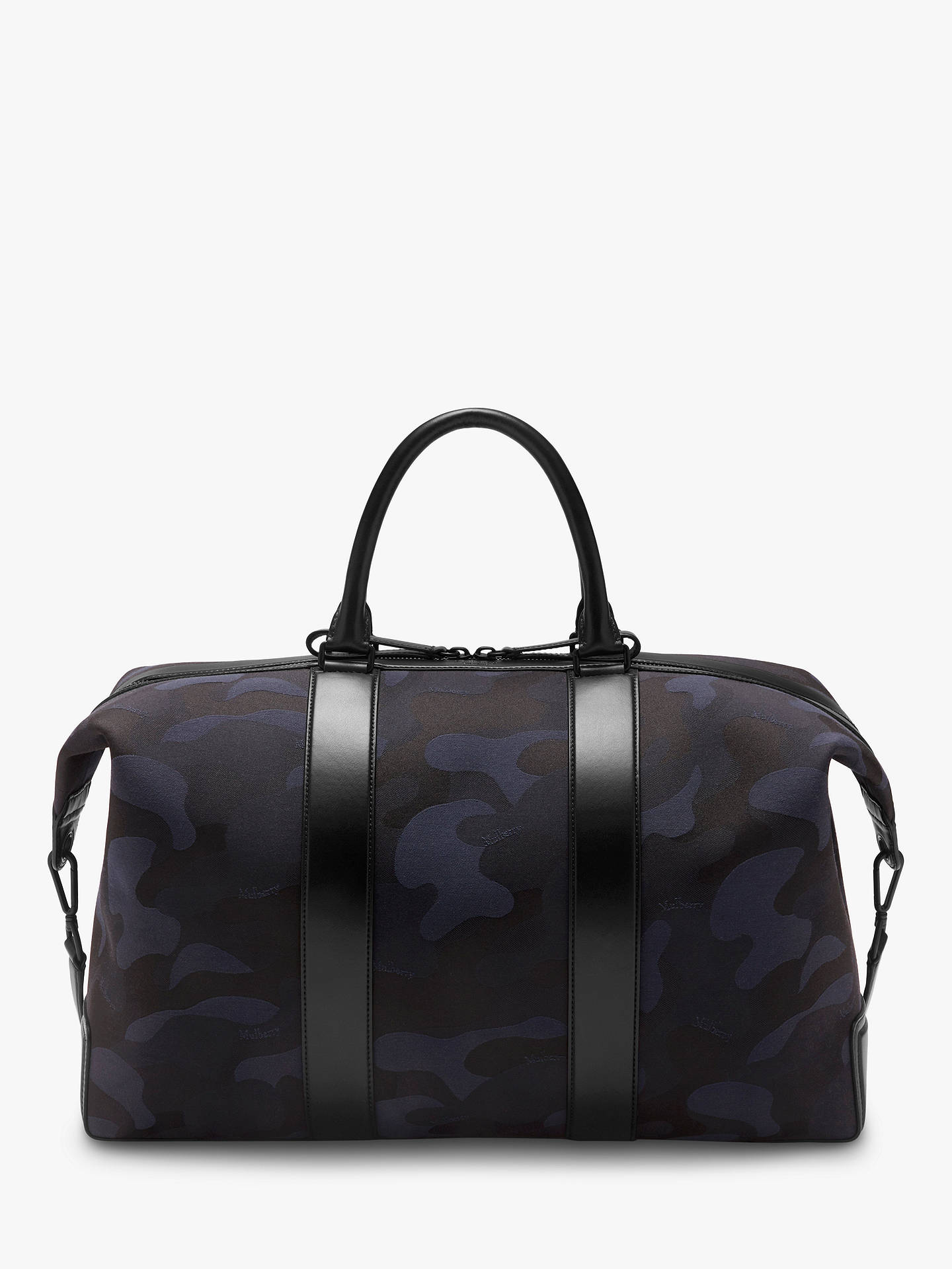 Mulberry Small Weekender Camo Jacquard Tote Bag Midnight Black