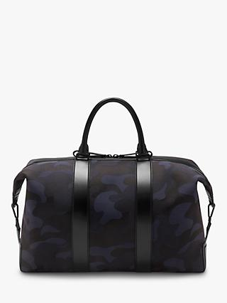 Mulberry Small Weekender Camo Jacquard Tote Bag, Midnight/Black