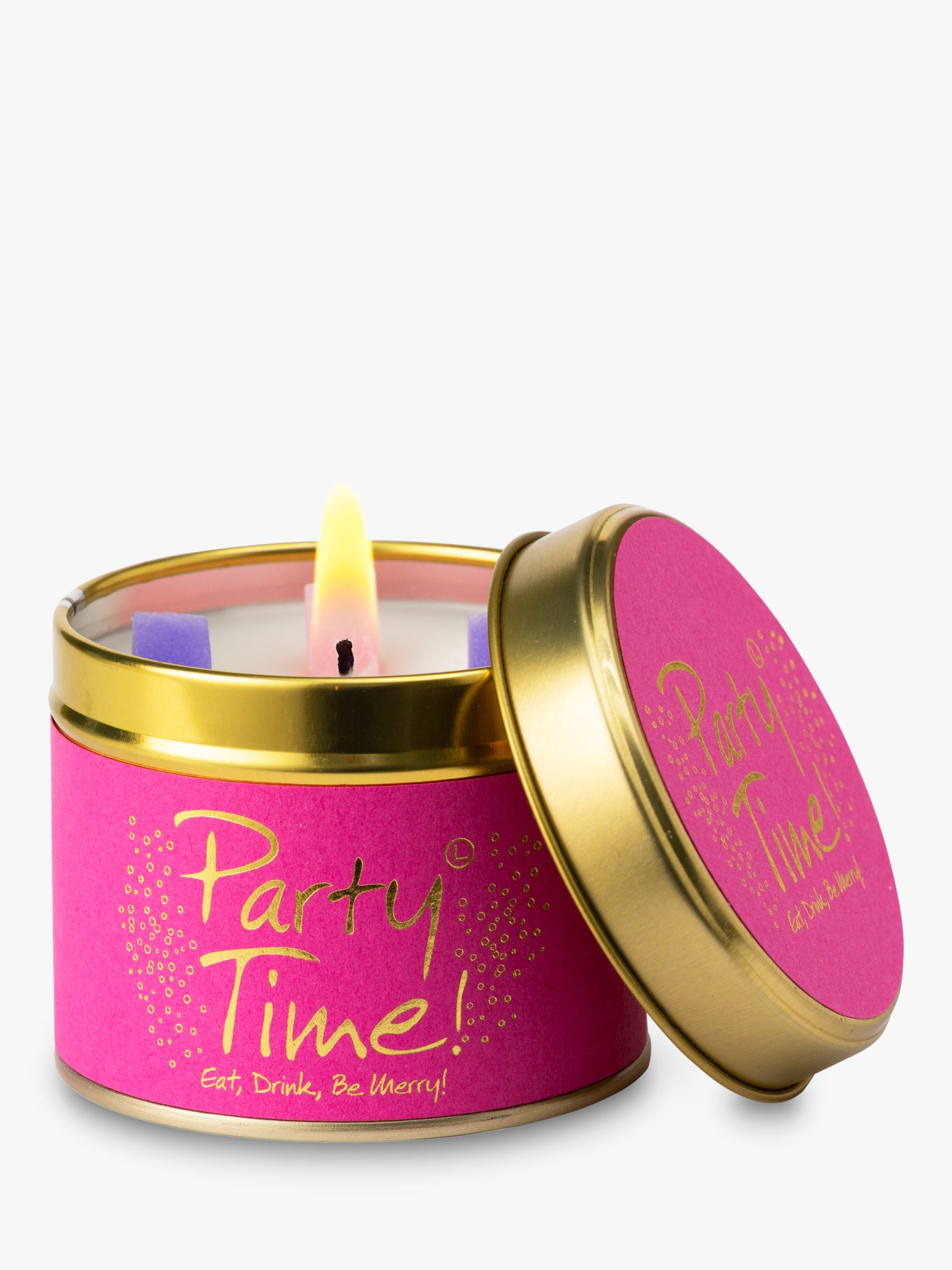 Lily-Flame Lily-flame Party Time Scented Tin Candle, 150g