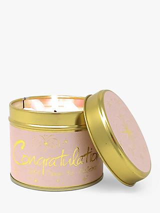 Lily-flame Congratulations Scented Tin Candle, 230g