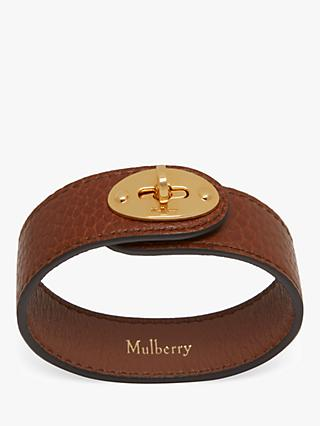 Mulberry Bayswater Leather Bracelet, Oak