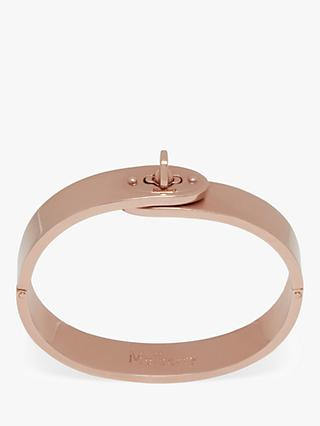 Mulberry Bayswater Slim Metal Bangle, Rose Gold