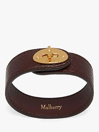 Mulberry Bayswater Leather Bracelet, Oxblood