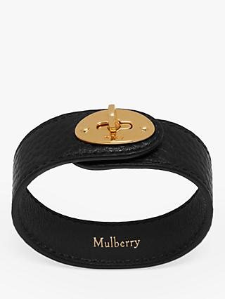 Mulberry Bayswater Leather Bracelet, Black