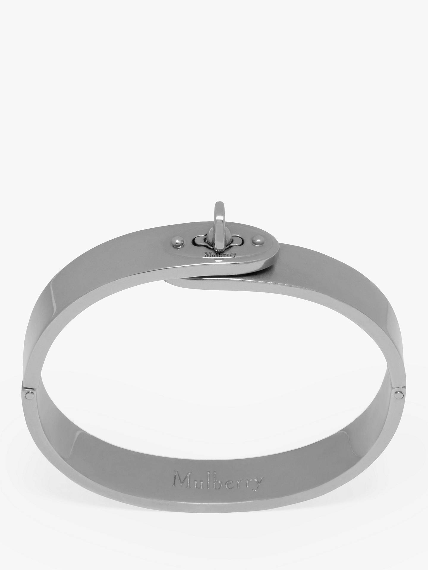 BuyMulberry Bayswater Slim Metal Bangle, Silver Online at johnlewis.com