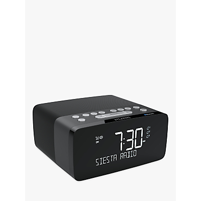 Image of Pure Siesta Charge DAB/DAB+/FM Bluetooth Bedside Clock Radio with Wireless Charging Pad