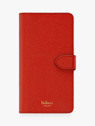 Mulberry Small Classic Grain Leather iPhone X Flip Case