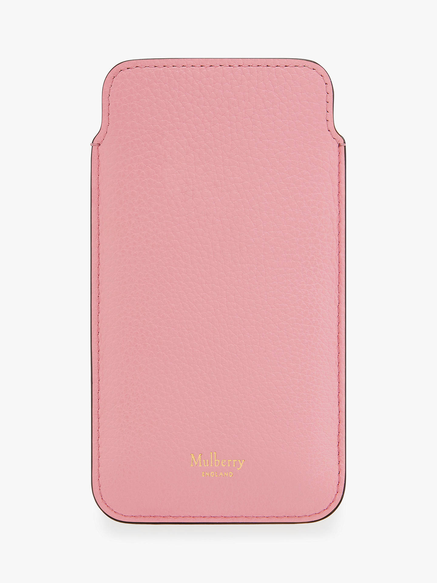 best service 22c6c 201ea Mulberry Small Classic Grain Leather iPhone Cover & Card Slip, Sorbet Pink