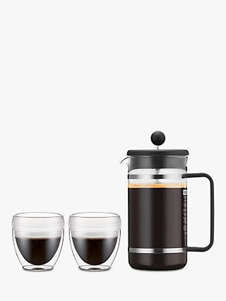 Bodum 8 Cup Shatterproof Caffetteria And 2 Tumblers Set Clear