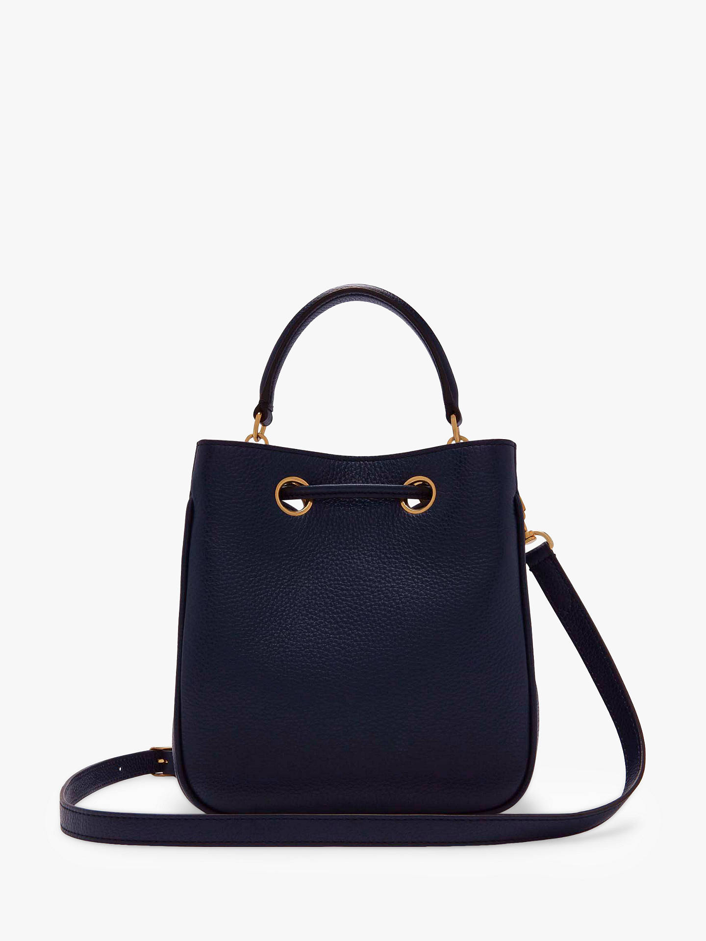 Mulberry Small Hampstead Classic Grain Leather Handbag Bright Navy Online At Johnlewis