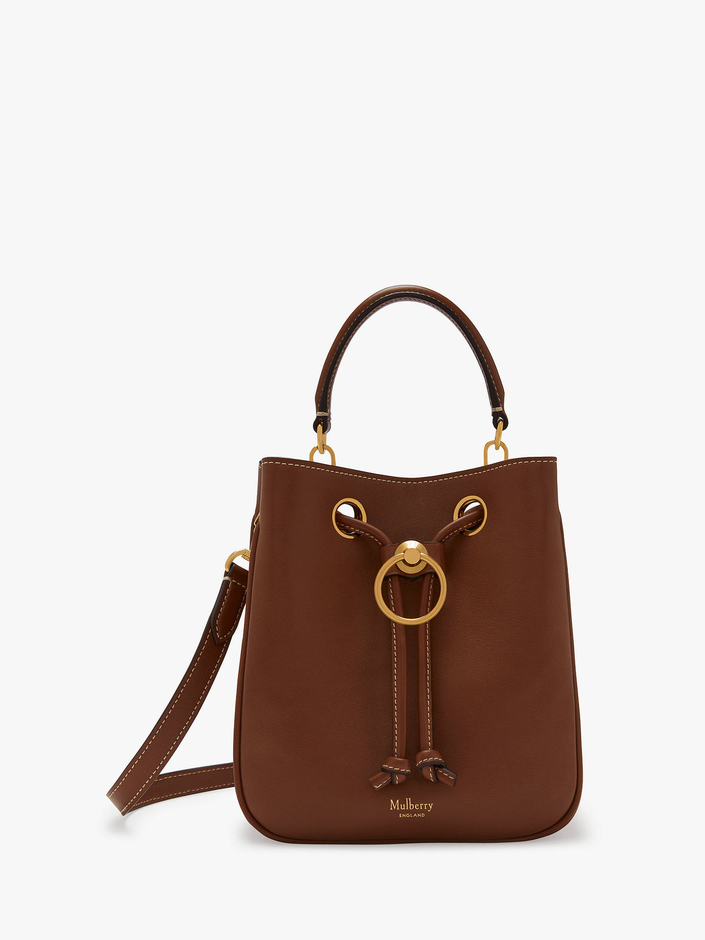 018e8a7251 Buy Mulberry Small Hampstead Silky Calf Leather Handbag, Tan Online at  johnlewis.com ...