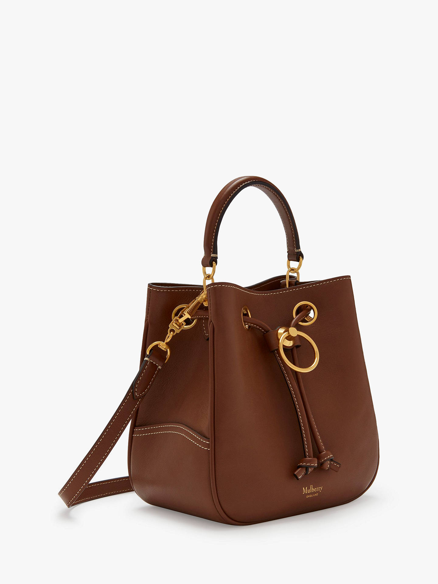 b98e589526 ... Buy Mulberry Small Hampstead Silky Calf Leather Handbag, Tan Online at  johnlewis.com ...