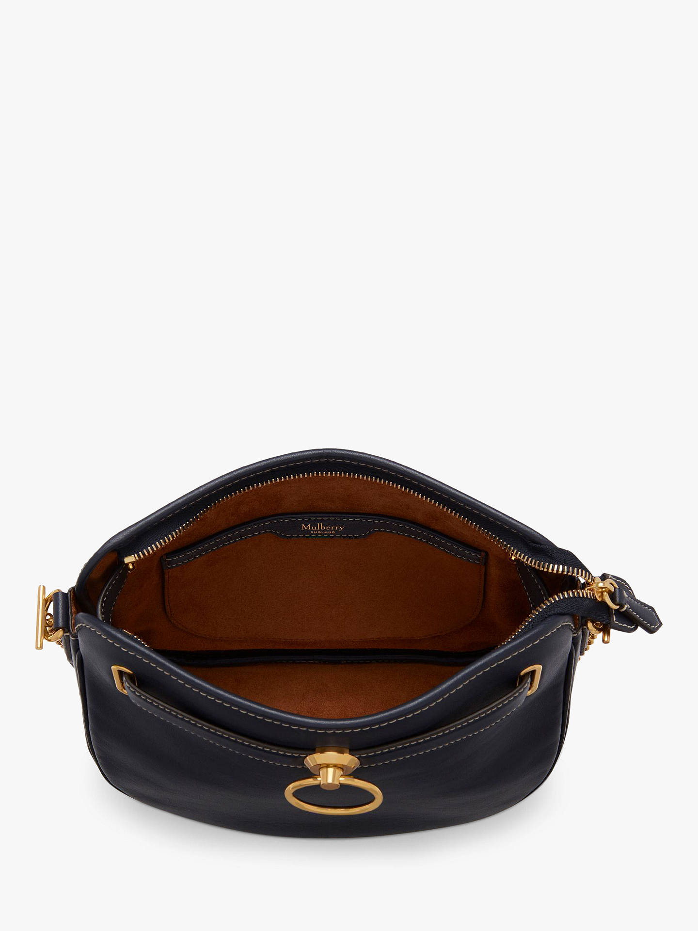 04dd6dc1b60 ... Buy Mulberry Brockwell Silky Calf's Leather Satchel Bag, Midnight  Online at johnlewis. ...