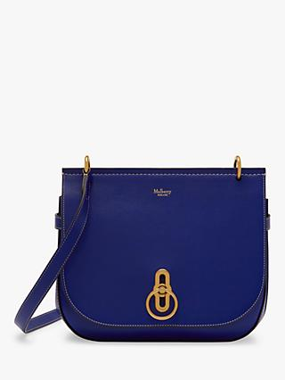 Mulberry Small Amberley Silky Calf's Leather Satchel Bag, Cobalt Blue
