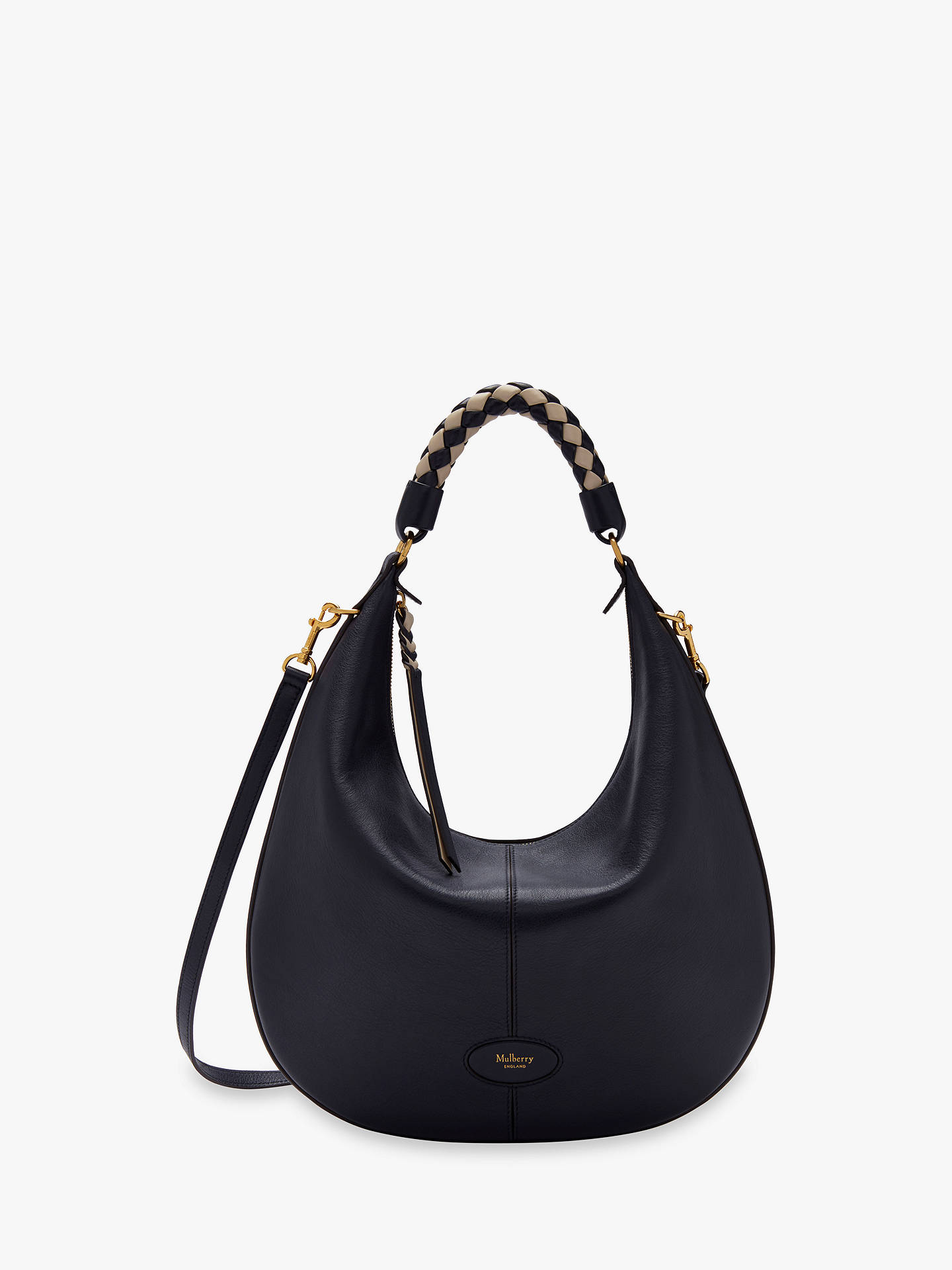 Mulberry Small Selby Silky Calf Leather with Braided Handle Hobo Bag ... 242d35e3db3a6